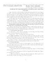 Nghị quyết đại hội cổ đông ngày 24-10-2010 - Công ty Cổ phần Sách - Thiết bị trường học Hà Tĩnh