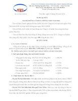 Nghị quyết đại hội cổ đông ngày 14-06-2011 - Công ty Cổ phần Lâm Nông sản Thực phẩm Yên Bái