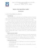 Báo cáo thường niên năm 2011 - Công ty Cổ phần Đầu tư và Phát triển Giáo dục Đà Nẵng
