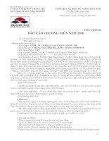 Báo cáo thường niên năm 2010 - Công ty Cổ phần Gạch men Chang Yih