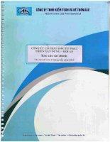 Báo cáo tài chính quý 2 năm 2015 (đã soát xét) - Công ty Cổ phần Đầu tư Phát triển Xây dựng - Hội An
