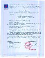 Báo cáo thường niên năm 2013 - Tổng Công ty Khí Việt Nam-CTCP