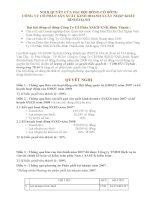 Nghị quyết Đại hội cổ đông thường niên năm 2008 - Công ty Cổ phần Sản xuất Kinh doanh Xuất nhập khẩu Bình Thạnh