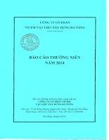 Báo cáo thường niên năm 2014 - Công ty Cổ phần VICEM Vật liệu Xây dựng Đà Nẵng