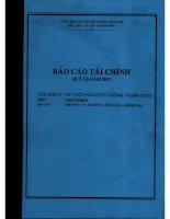Báo cáo tài chính công ty mẹ quý 3 năm 2011 - Công ty Cổ phần Đầu tư Phát triển Cường Thuận IDICO