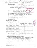 Báo cáo tình hình quản trị công ty - CTCP Xây dựng HUD101