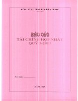 Báo cáo tài chính hợp nhất quý 3 năm 2013 - Công ty Cổ phần Bóng đèn Điện Quang