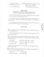 Nghị quyết đại hội cổ đông ngày 3-4-2010 - Công ty Cổ phần Chứng khoán Bảo Việt