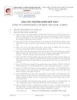 Báo cáo thường niên năm 2007 - Công ty cổ phần Dây Cáp Điện Việt Nam