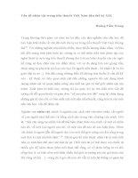 Vấn đề nhân vật trong tiểu thuyết Việt Nam đầu thế kỷ XXI