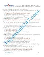 75 câu lí thuyết về máy phát điện và truyền tải điện năng
