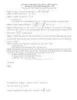 Đề thi tuyển sinh lớp 10 môn toán kontum năm học 2016   2017(có đáp án)