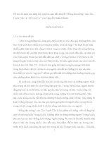 """Bi kịch của tầng lớp quý tộc qua tiểu thuyết """"Hồng lâu mộng"""" của Tào Tuyết Cần và """"Hồ Quý Ly"""" của Nguyễn Xuân Khánh."""