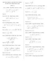 tổng hợp hệ phương trình trong đề thi thử năm 2016
