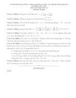 Đề thi tuyển sinh lớp 10 chuyên môn toán(đề chung) nguyễn tất thành tỉnh kontum năm học 2016   2017(có đáp án)