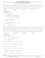 tổng hợp các bài toán điện xoay chiều hay,khó