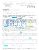 bài giải chi tiết đề hoá thi THPt quốc giá 2016