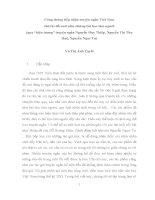 Công chúng tiếp nhận truyện ngắn việt nam thời kì đổi mới như bài học làm người qua hiện tượng nổi bật Nguyễn Huy Thiệp, Nguyễn Thị Thu Huệ, Nguyễn Ngọc Tư
