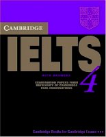 Cambridge IELTS 4 student s book with answers examination papers from university of cambridge ESOL examinations