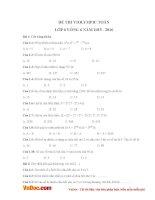 Đề thi violympic toán lớp 6 vòng 6 năm 2015   2016