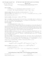Đáp án   đề thi chính thức THPT quốc gia môn toán năm 2016