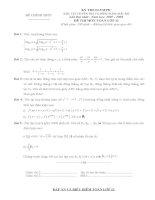 đề thi olimpic môn toán 11