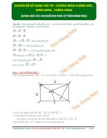 Dùng vecto   chứng minh vuông góc , thẳng hàng   thầy quang baby2 (1)
