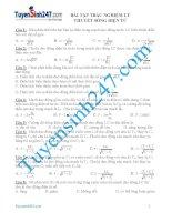 bài tập trắc nghiệm lí thuyết sóng điện từ