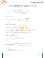 Giải hệ phương trình bằng phương pháp đánh giá