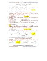So sánh đề vật lý 2016 và sách luyện thi thầy chu văn biên