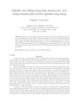 Nghiên cứu đồng trùng hợp metacrylic axitmetyl metacrylat và thử nghiệm ứng dụng