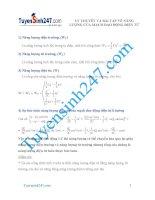 lí thuyết và bài tập về năng lượng của dao động điện từ
