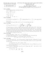 Đề thi tuyển sinh lớp 10 môn toán thành phố hồ chí minh năm học 2016   2017(có đáp án)