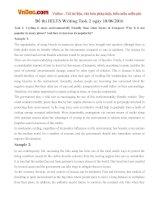 Đề thi IELTS Writing Task 2 ngày 18/06/2016
