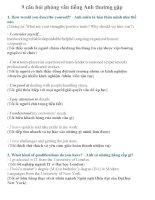 9 câu hỏi phỏng vấn tiếng anh thường gặp
