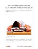 Bí quyết giải tỏa căng thẳng, mệt mỏi trong cuộc sống