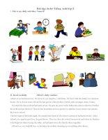 Bài tập ôn hè Tiếng Anh lớp 5