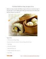 Cách làm bánh bao nhân thịt trứng cút ngon mê say