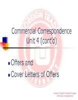 Unit 4: cover letters of offers