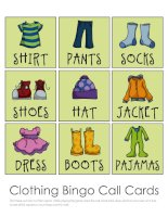 Clothing bingo game