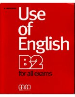 Use of english b2 for all exames OCR MCR