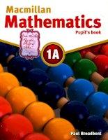 macmillan mathematics pupil book 1a 0079