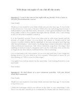 Viết đoạn văn ngắn Tiếng Anh về các chủ đề cho trước