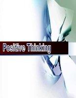 Bài giảng Kỹ năng tư duy tích cực part 2