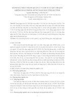 ĐÁNH GIÁ THỰC TRẠNG QUẢN LÝ VÀ ĐỀ XUẤT QUY HOẠCH KHÔNG GIAN TRỒNG RỪNG NGẬP MẶN TỈNH HÀ TĨNH