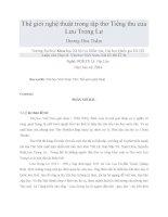 Thế giới nghệ thuật trong tập thơ Tiếng thu của Lưu Trọng Lư