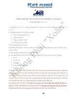 Tổng hợp đề thi tuyển dụng ngân hàng quân đội đợt 1 năm 2013