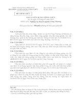 đề thi công chức môn chuyên nghành công thương bản gốc