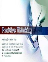 Bài giảng Kỹ năng tư duy tích cực part 1