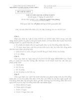 đề thi công chức môn chuyên nghành  văn phòng bản gốc